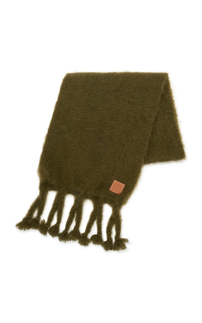 Fringed Mohair Scarf