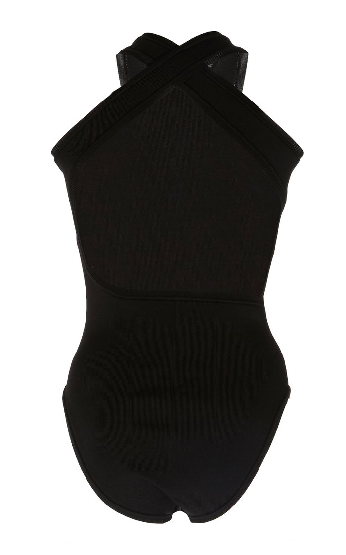 Annika Stretch-Knit Bodysuit