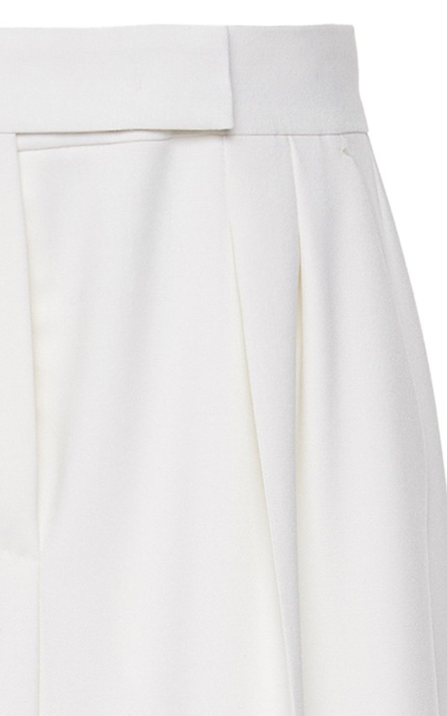 Villar Fringed Wool Wide-Leg Pants