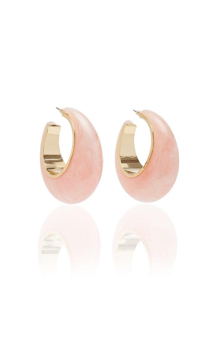 Mona Acrylic Hoop Earrings