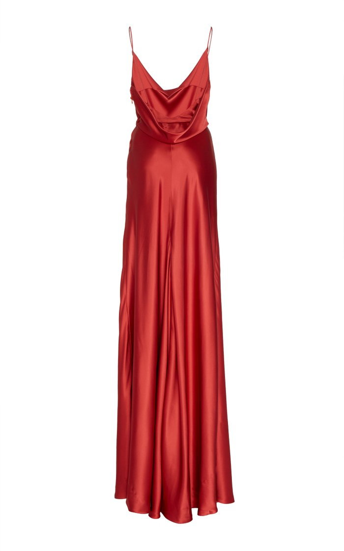 Greta Silk-Satin Gown
