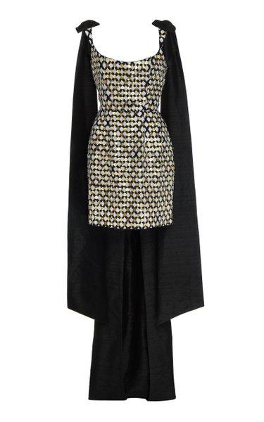 Grace Sequined Cotton Mini Dress