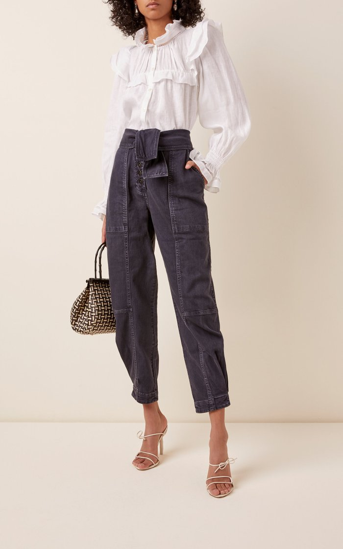 Storm Stretch High-Rise Straight-Leg Jeans