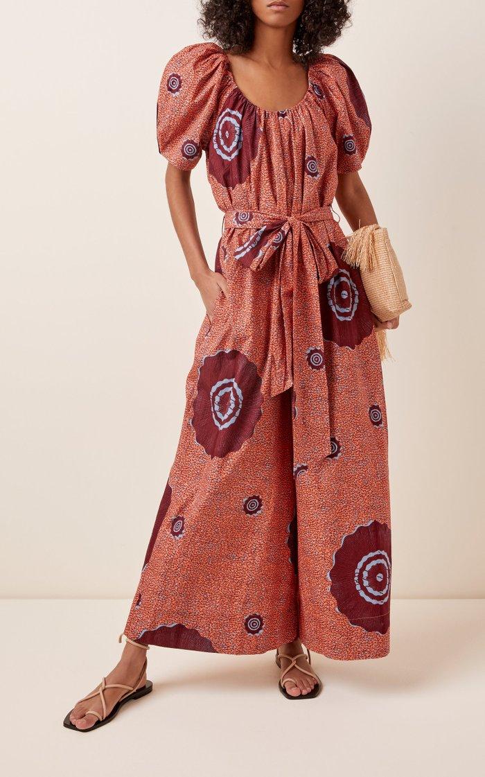 Perla Printed Cotton-Poplin Jumpsuit