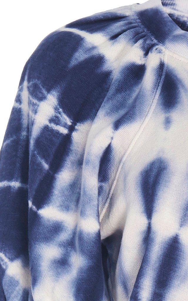 Rocha Tie-Dye Cotton-Fleece Top