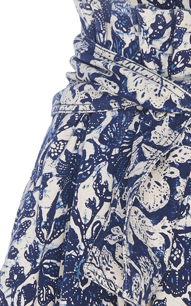 Virgil Stretch Denim A-Line Skirt
