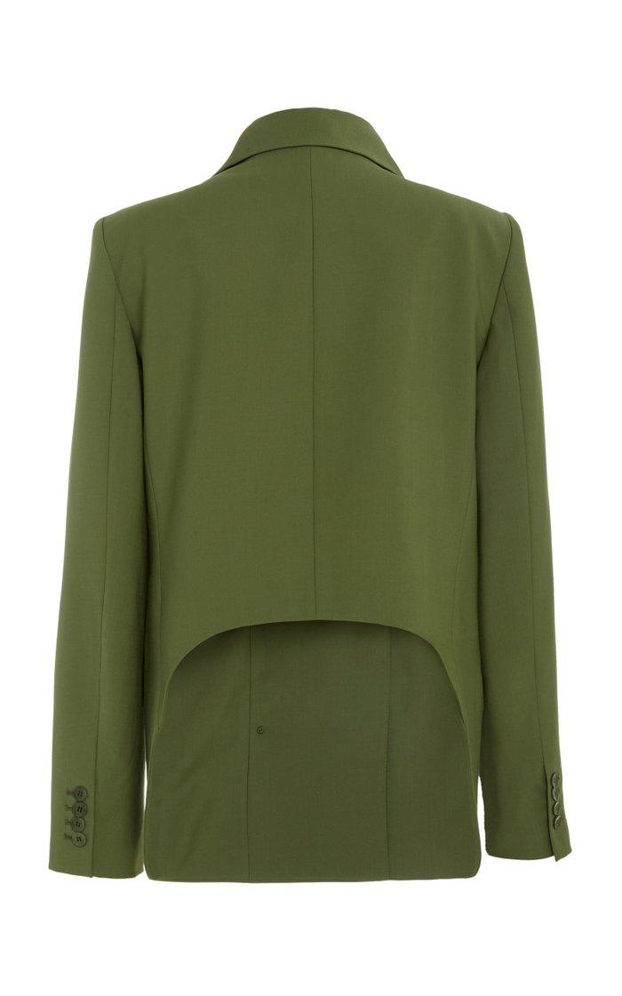 Tropical Wool-Blend Blazer