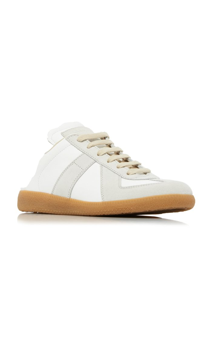 Backless Leather Sneakers