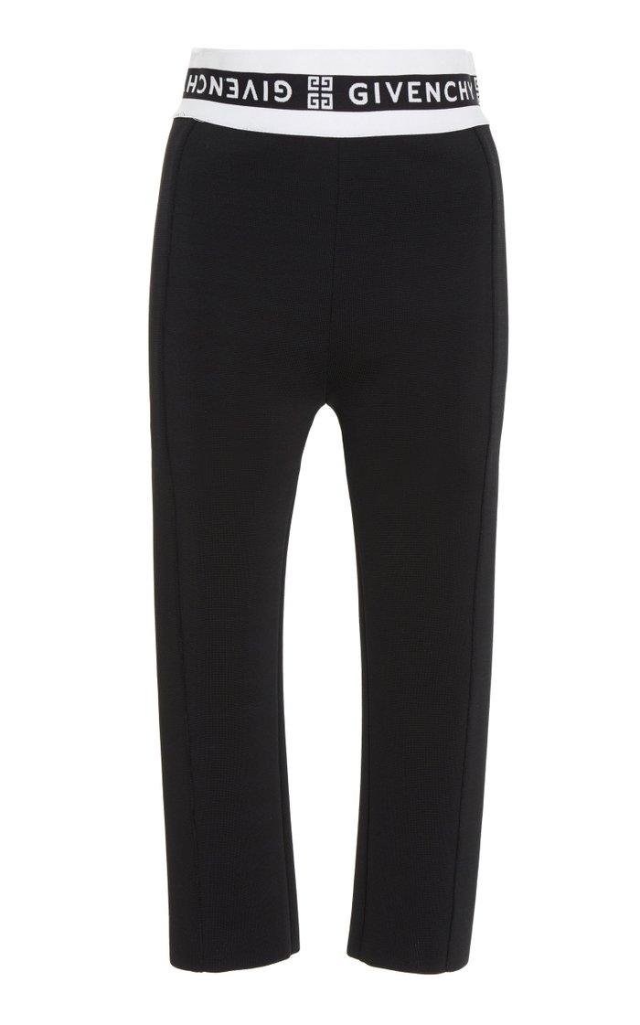 Jacquard-Trimmed Tech-Jersey Skinny Pants