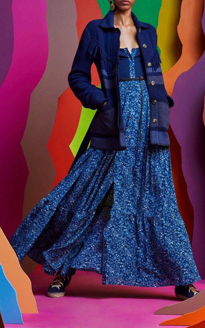 Pollie Floral Silk Maxi Dress