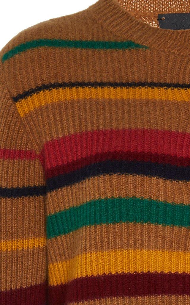 Pomona Striped Cashmere Henley Top