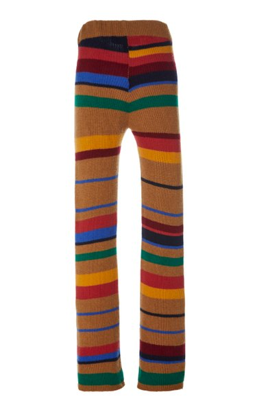 Pomona Striped Cashmere Flared Pants