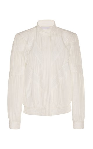 Textured Silk-Blend Jacket
