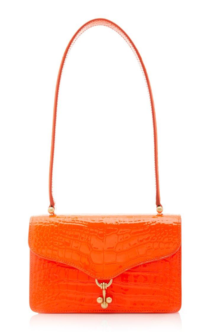 Ballbuster Croc Embossed Leather Bag