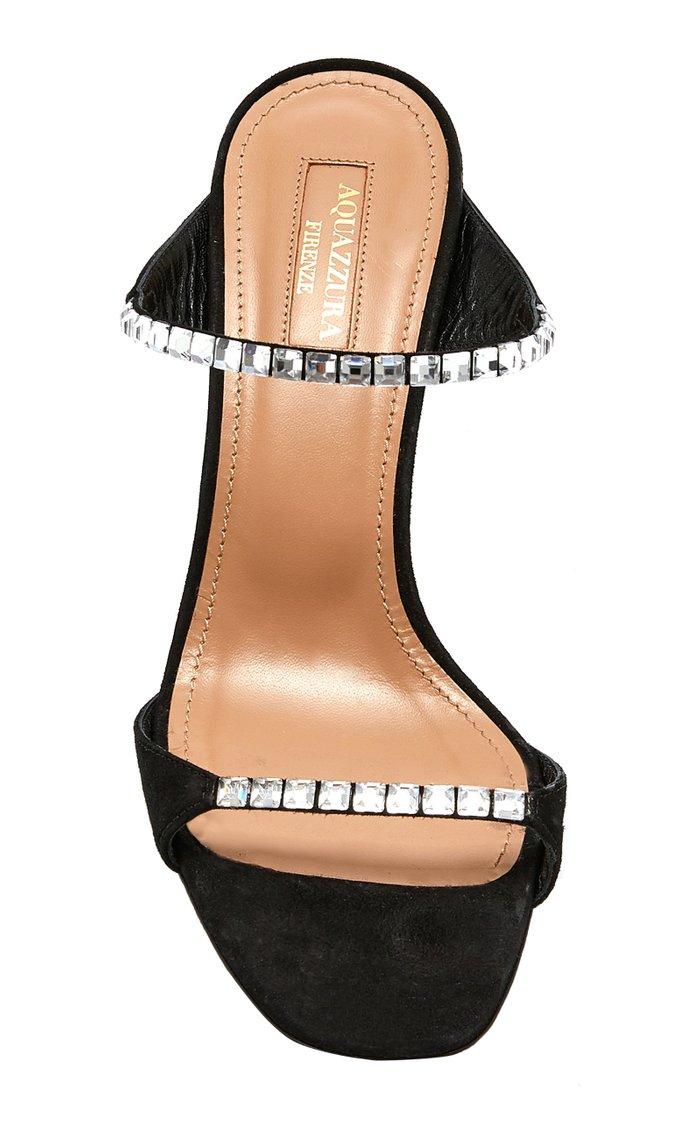 Diamante Crystal Suede Sandals