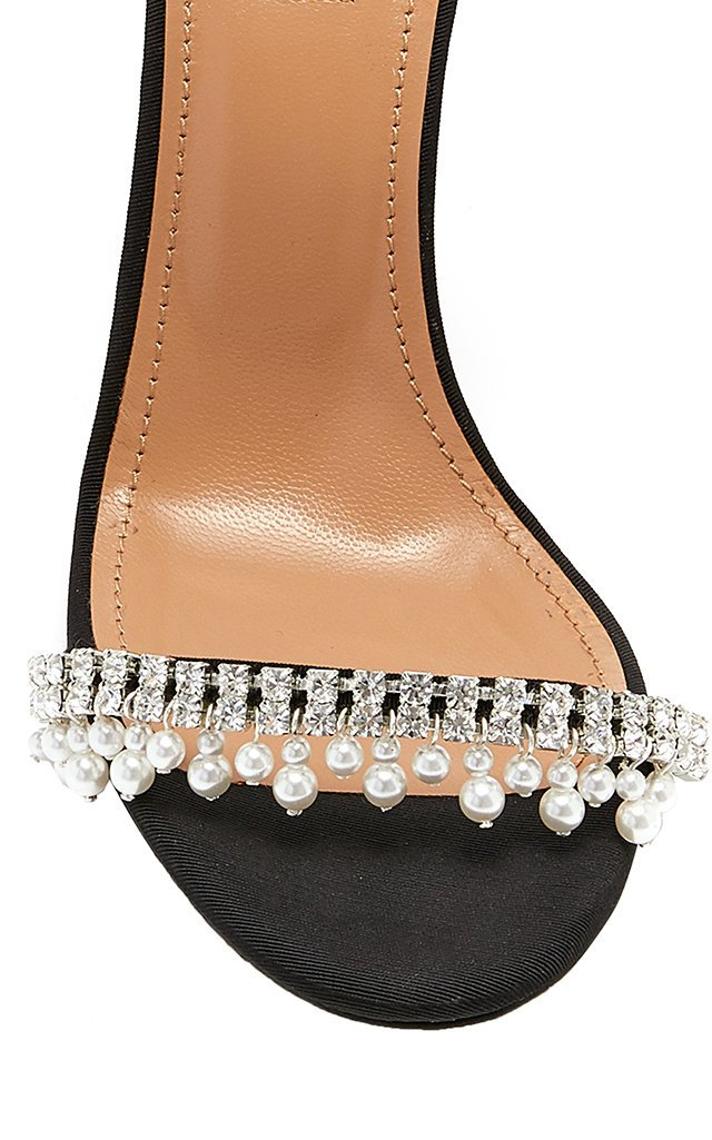 Exquisite Embellished Leather Sandals