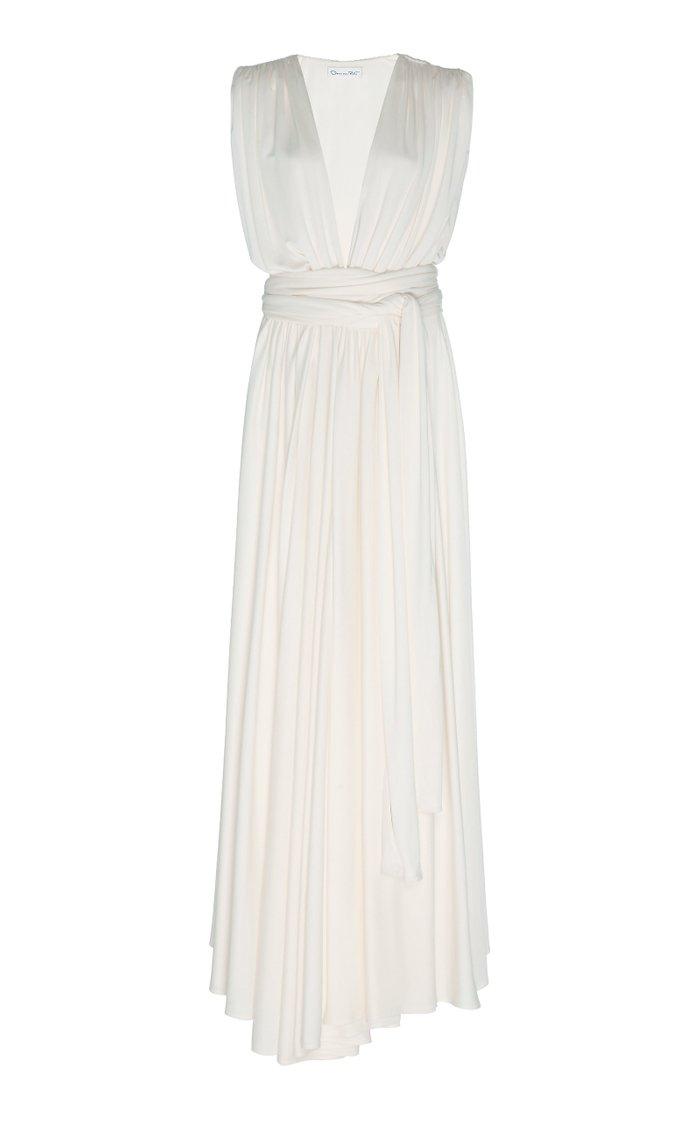 Gathered Jersey Maxi Dress