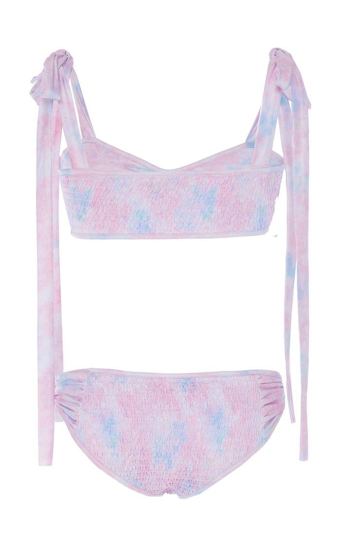 Ginger Tie-Detailed Floral-Print Bikini Set