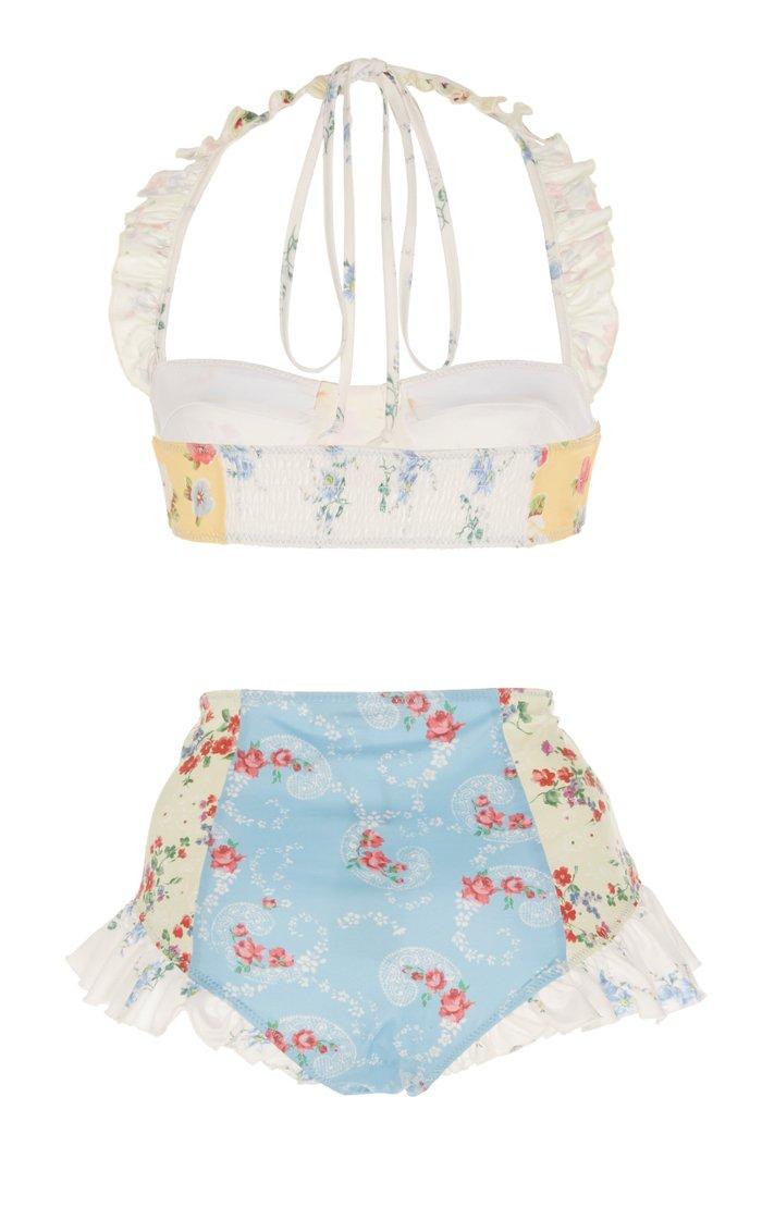 Kimberly Ruffled Floral-Print Bikini Set