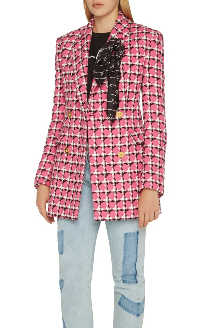 Printed Cotton-Blend Blazer