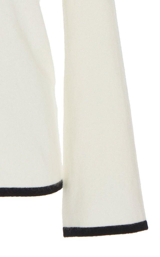 Castor Two-Tone Cashmere Top