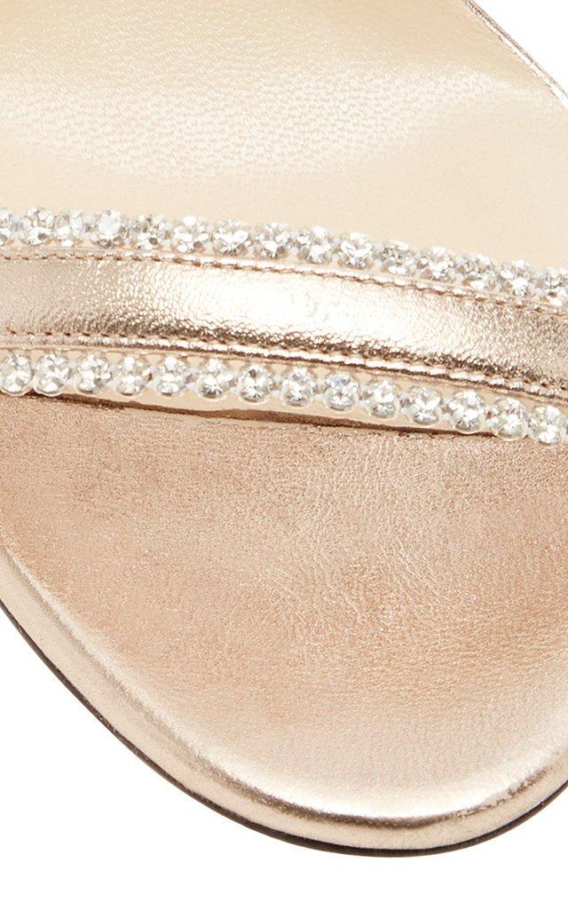 Dochas Crystal-Embellished Leather Sandals