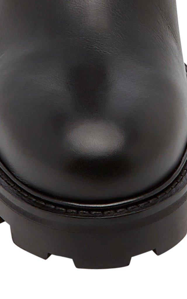 Biker Textured-Leather Boots