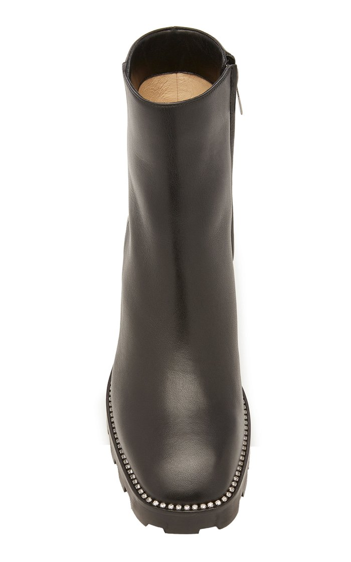 Mava Embellished Leather Ankle Boots