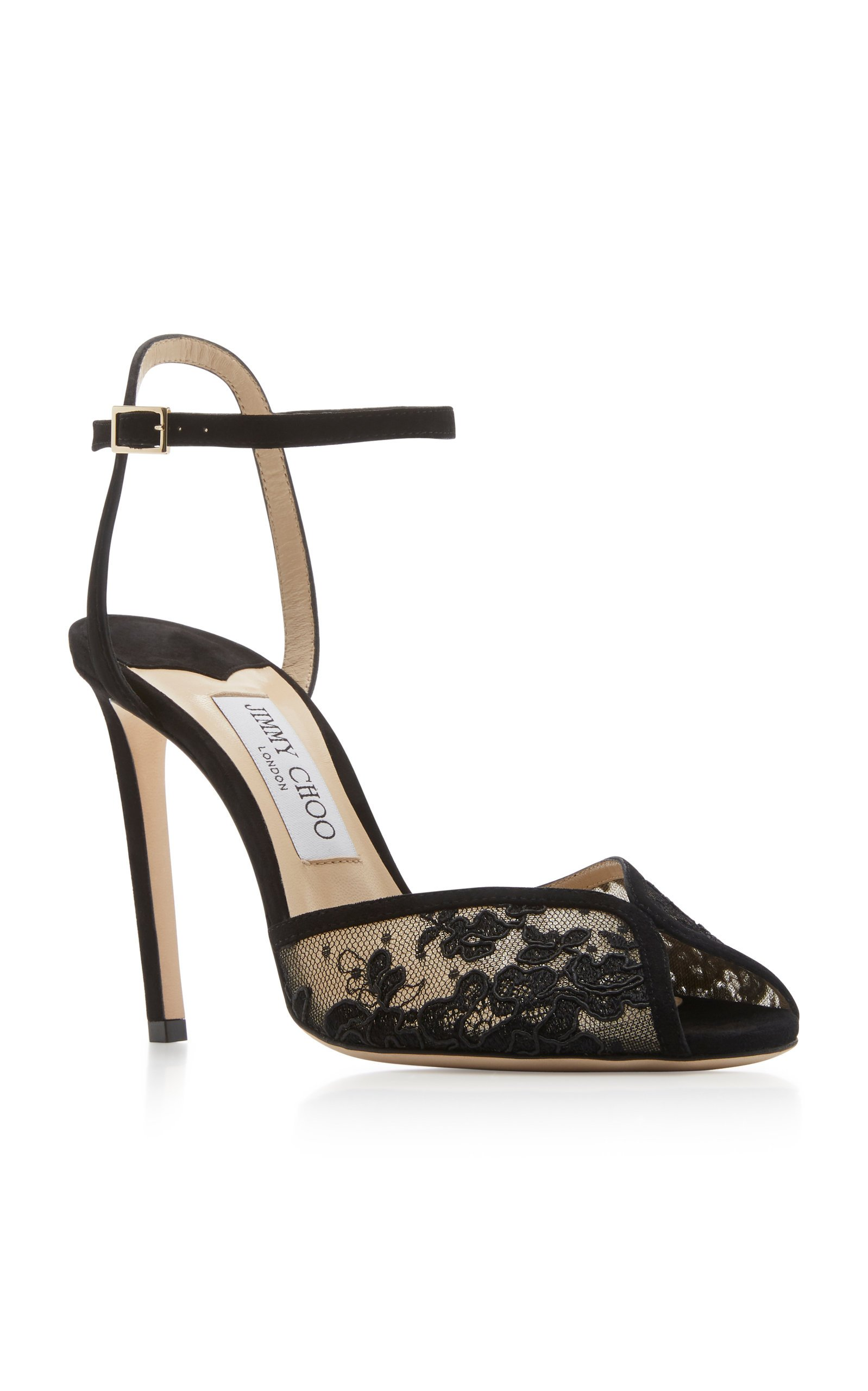 Sacora Lace Ankle-Strap Sandals By
