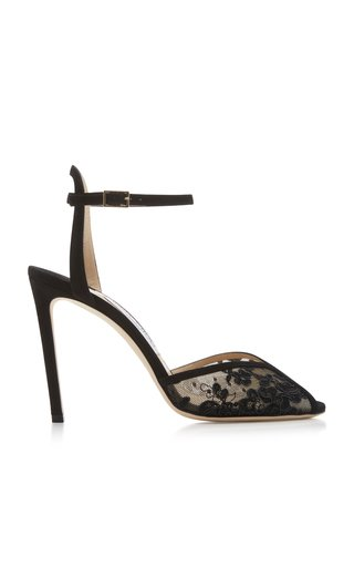 Sacora Lace Ankle-Strap Sandals