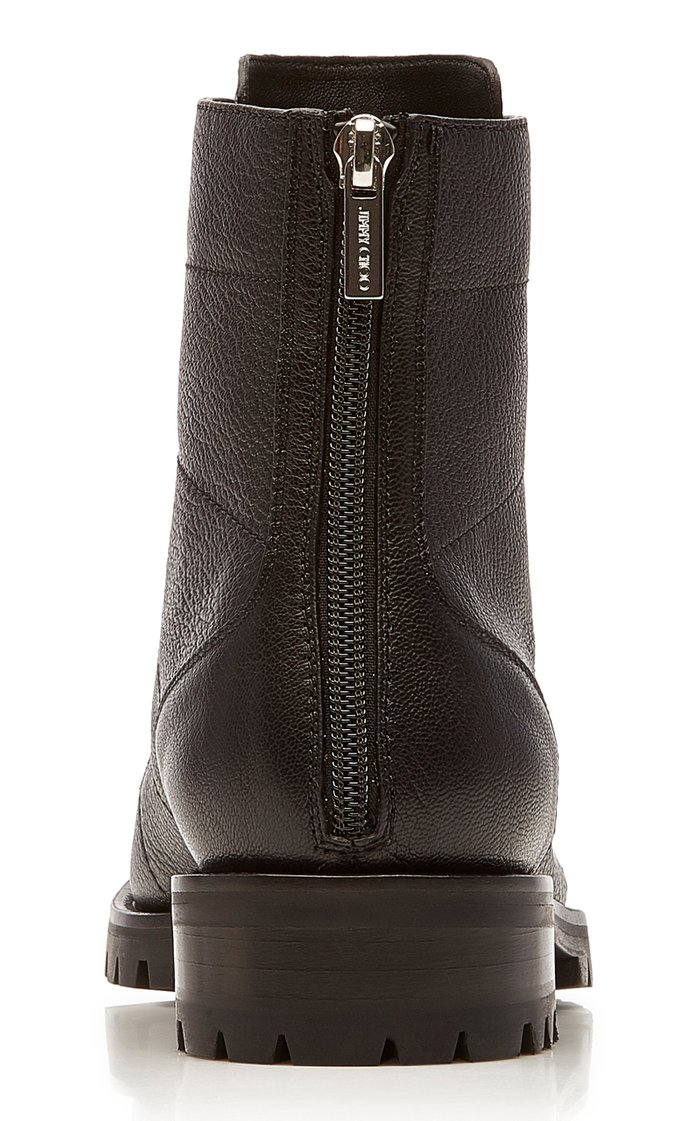 Bren Crystal-Embellished Leather Ankle Boots