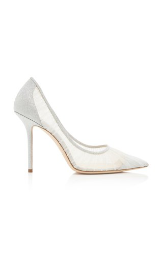 Love 100 Metallic Mesh Pumps