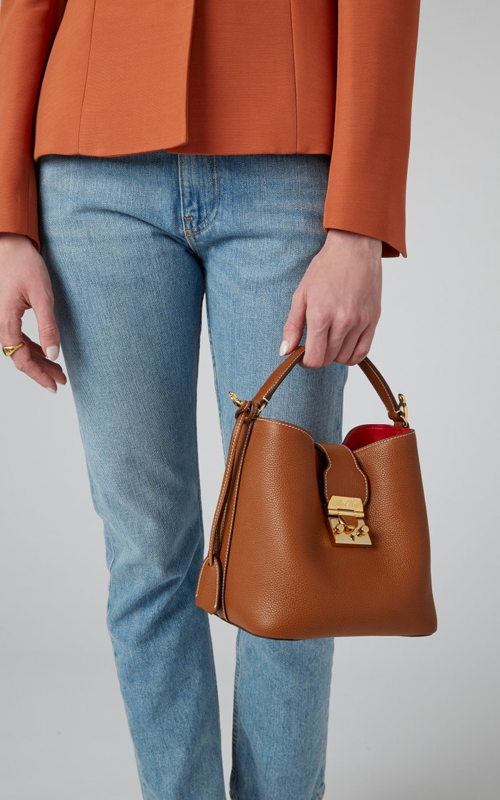 Murphy Small Textured-Leather Bucket Bag