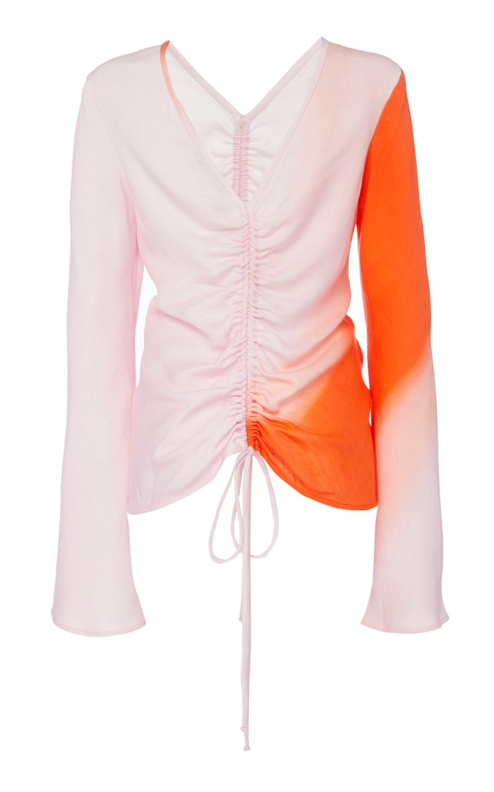 Drawn To Me Ruched Tencel Top