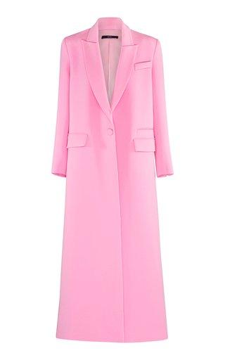 Huntley Structured Crepe Long Coat