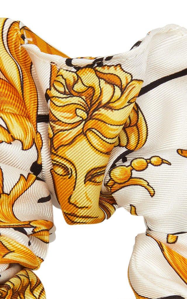Printed Satin Hair Tie