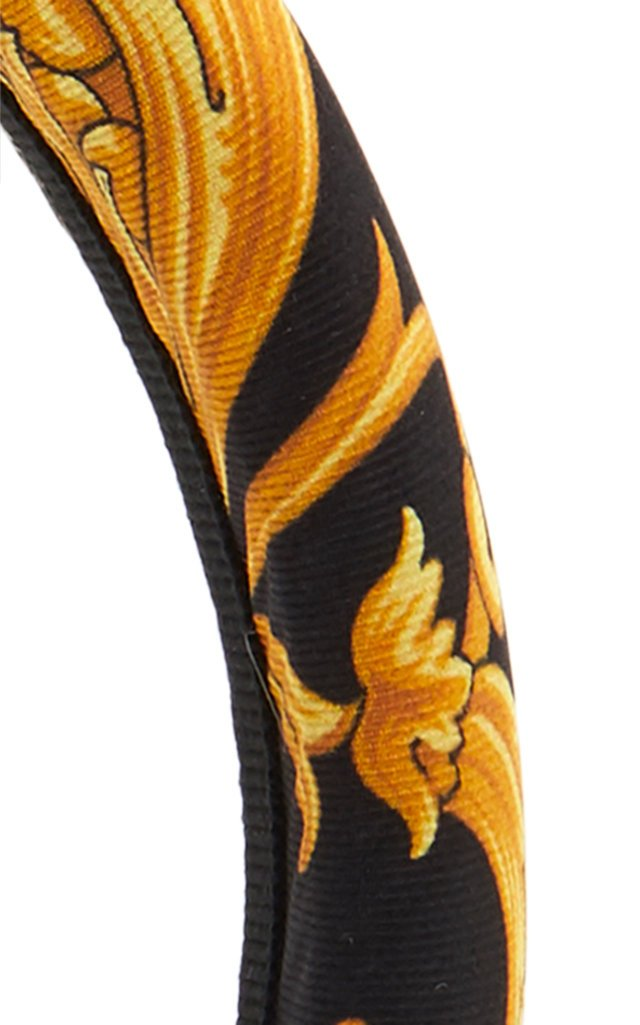 Printed Silk-Faille Headband