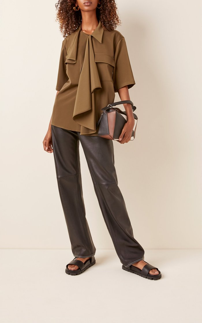 Draped Crepe De Chine Shirt