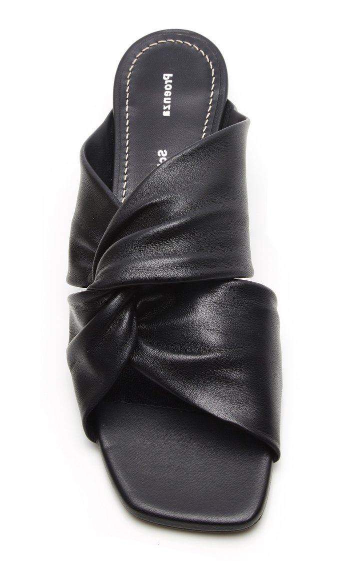 Knotted Leather Mules