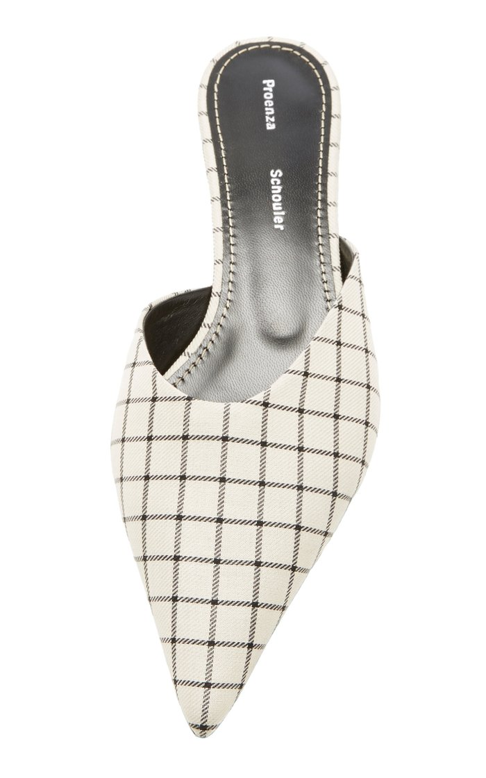 Checked Flat Mules