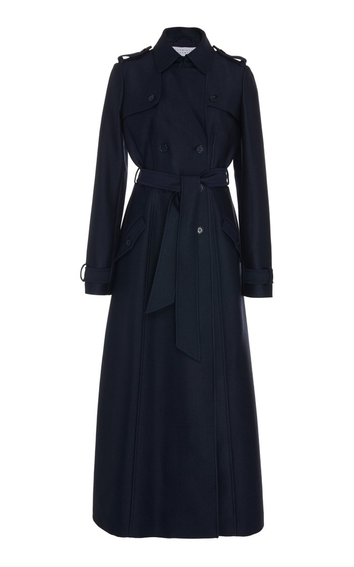 Cassatt Belted Wool Silk Trench