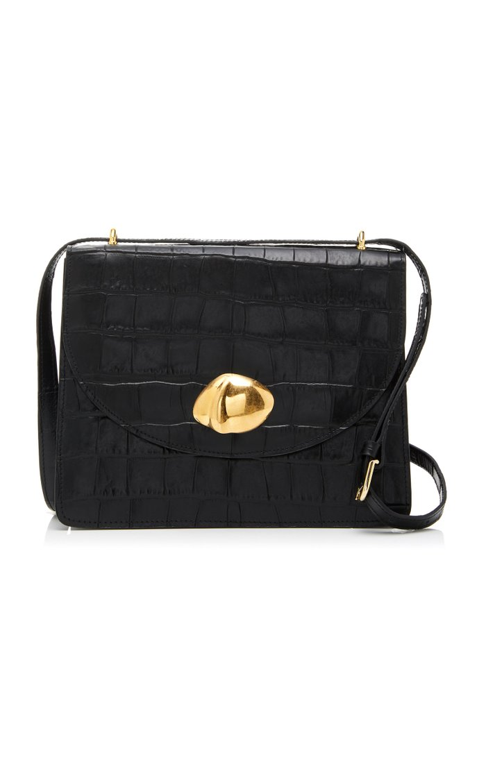 Everyday Croc-Effect Leather Shoulder Bag