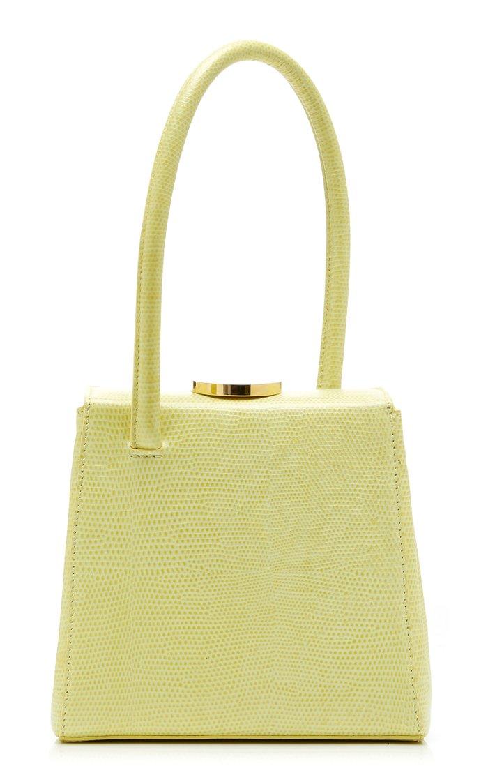 Mademoiselle Lizard-Effect Leather Top Handle Bag