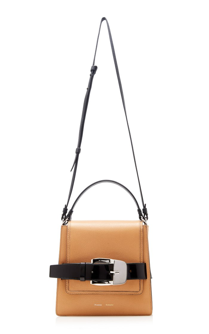 Buckle Trapeze Leather Bag