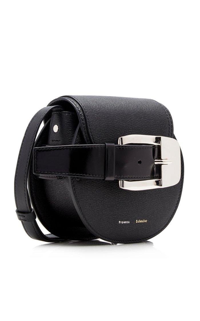 Buckle Mini Leather Crossbody Bag