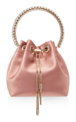 Bon Bon Embellished Satin Top Handle Bag