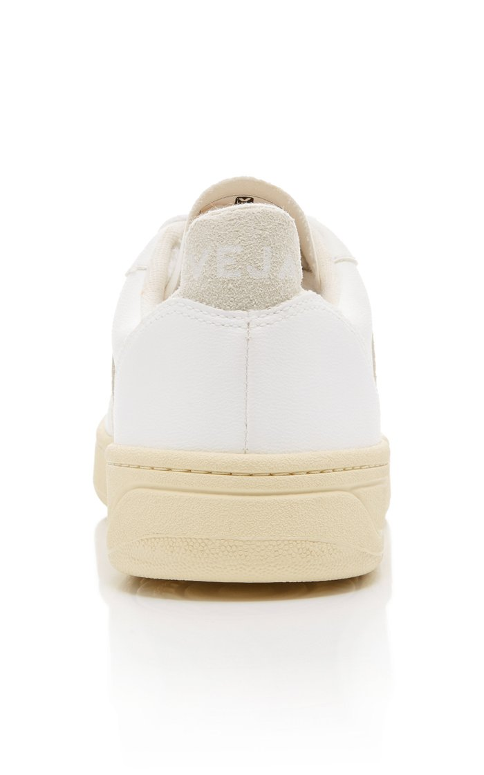 V-10 Leather And Suede Sneakers
