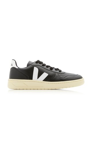 V-10 Two-Tone Leather Sneakers