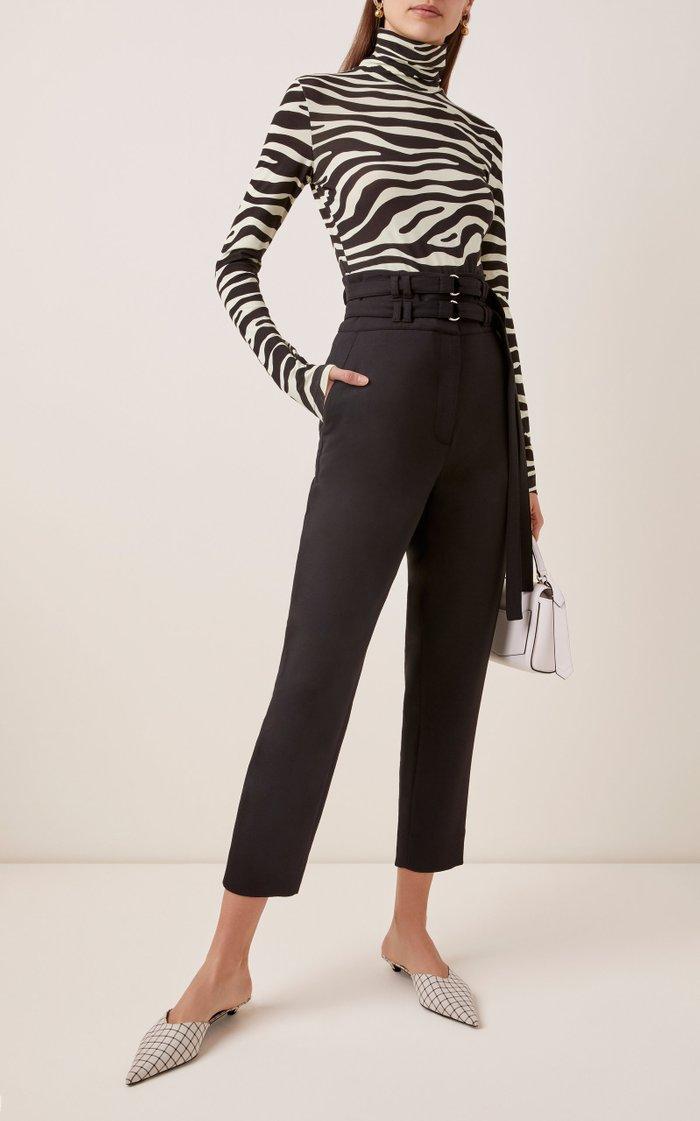 Belted Wool Pants