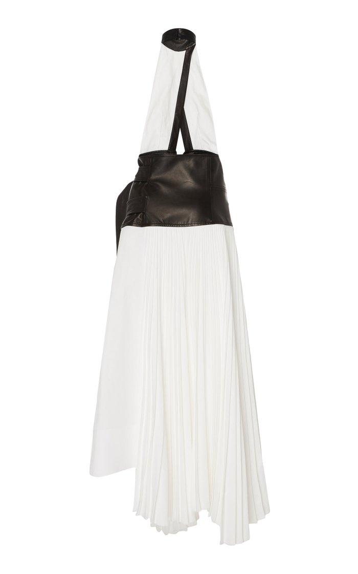Pleated Linen Wrap Dress